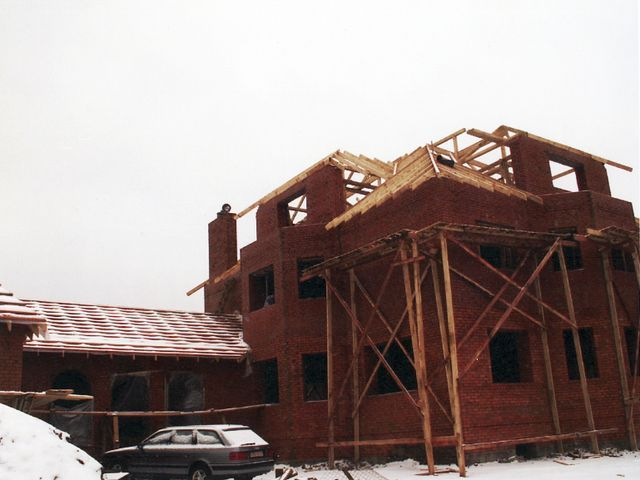 Полный цикл строительства базовой комплектации кирпичного дома