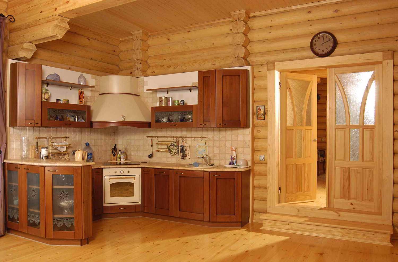 Дизайн кухни деревянного дома своими руками 601